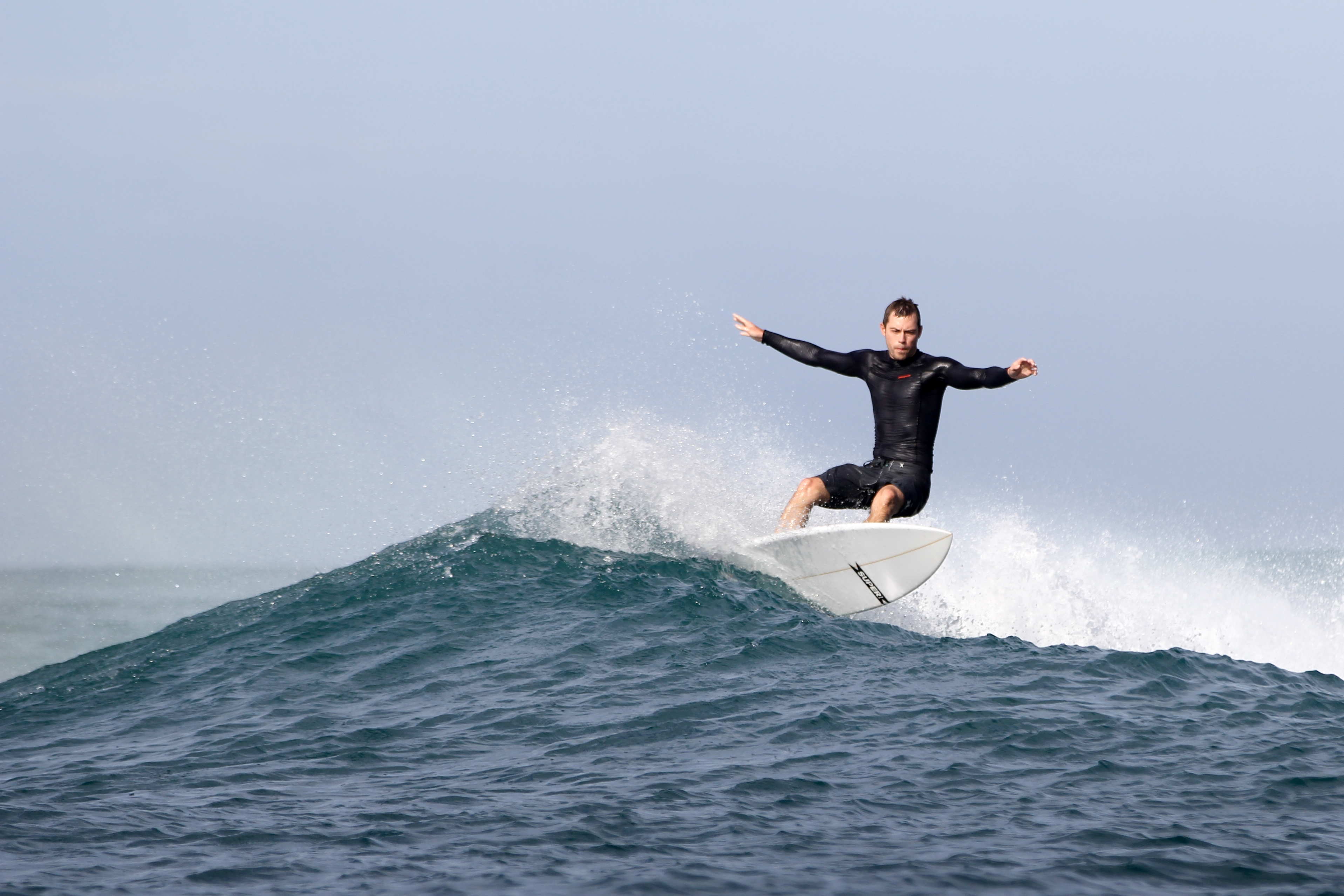 matt surfing