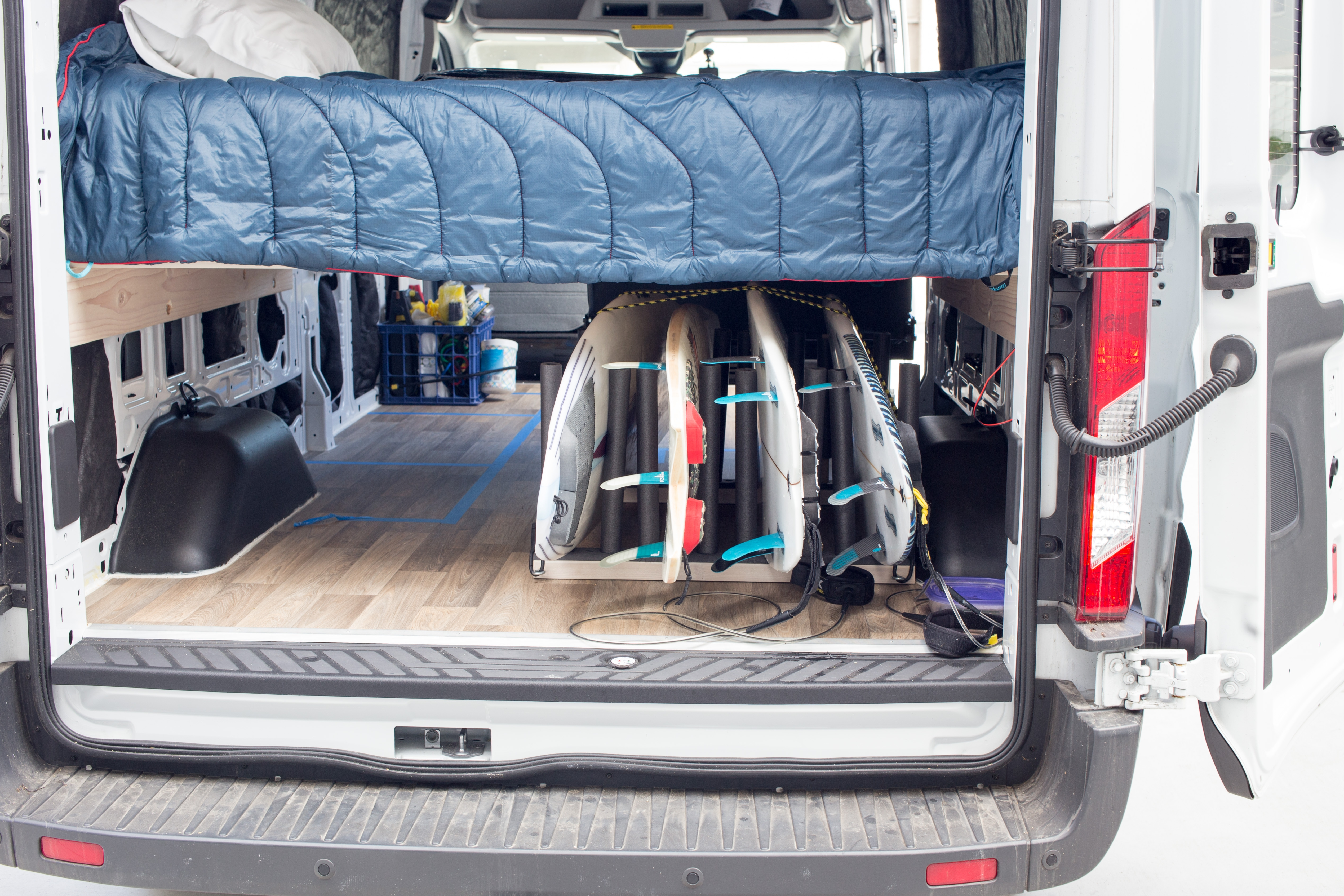 Build A Surfboard Rack For Your Van Morey S In Transit